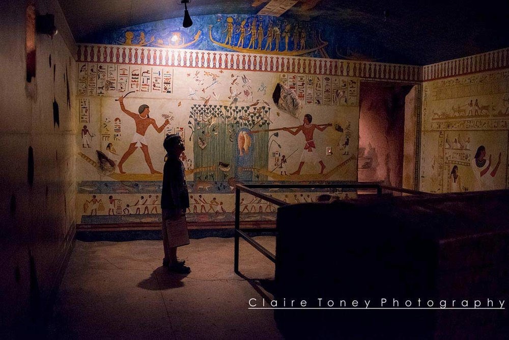 Inside a pharaoh's tomb at the Rosicrucian Museum in San Jose. Photo by Claire Toney