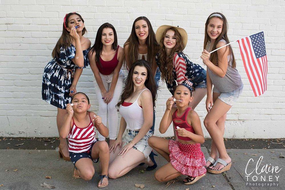 Tabitha Kit and her models at the Roseville Veterans Memorial Hall in Roseville CA