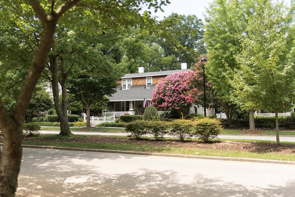 A stately brick home on Main Street, Wake Forest NC