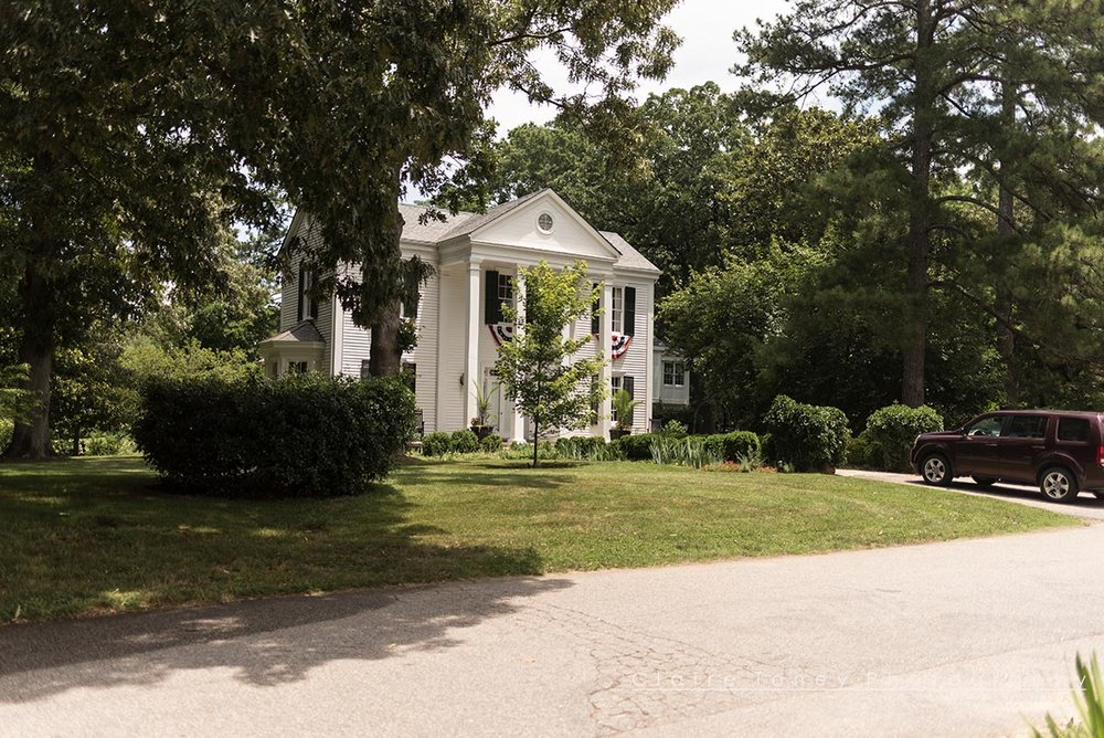 On a corner lot in downtown Wake Forest, this beautiful home looks so inviting!