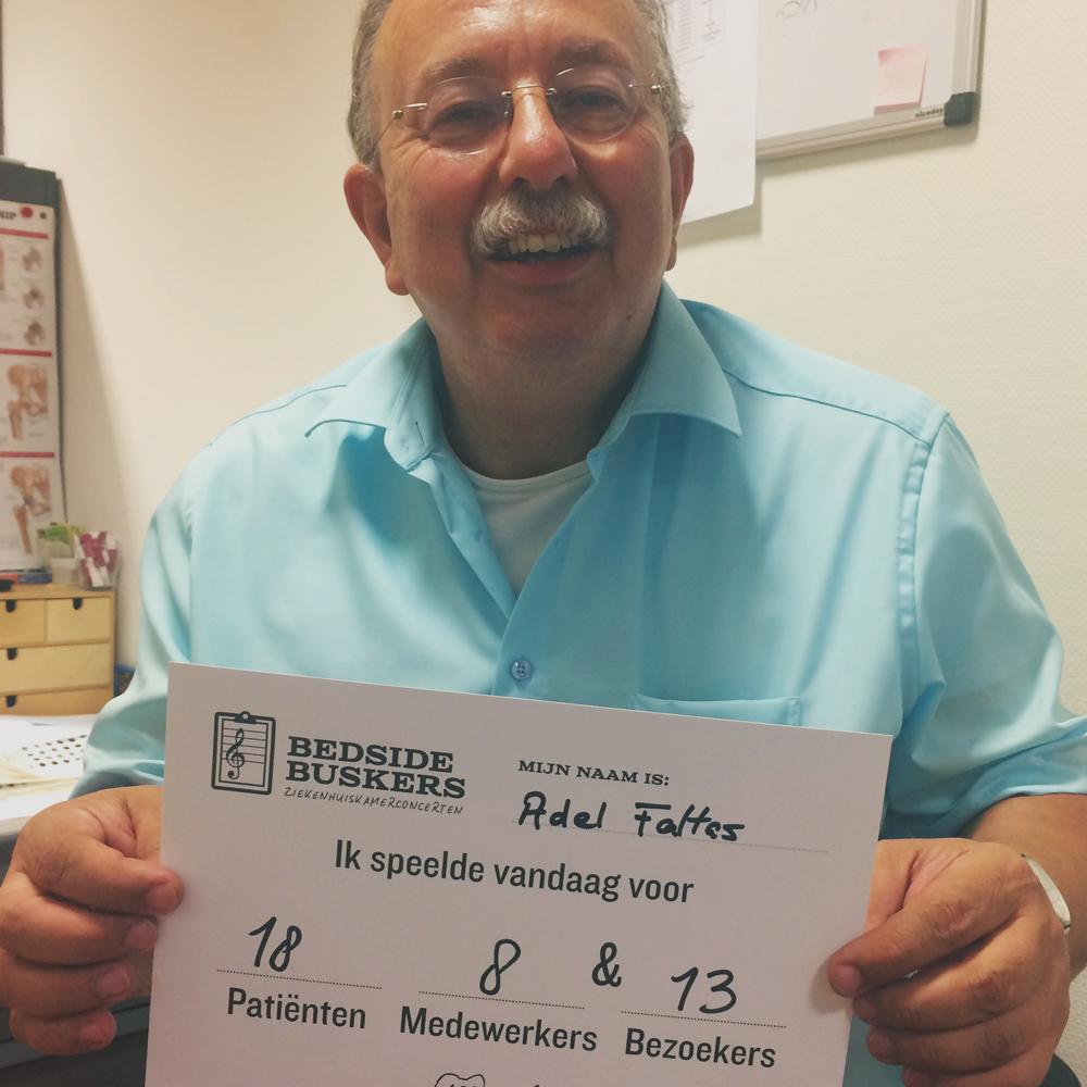 ADEL FALTAS   'Ik speelde voor 18 patiënten, 8 medewerkers & 13 bezoekers.'