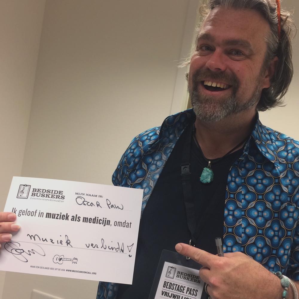 OSCAR PAUW   'Ik geloof in muziek als medicijn, omdat muziek verbindt!'