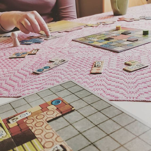 Starting off the new year with a game of Patchwork!