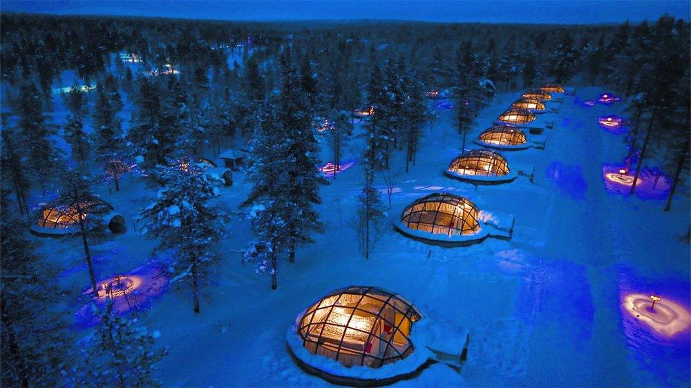 Arctic Resort    Santa's Home & Glass Igloos