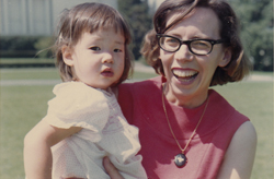 My mother, Erika Makino, holding me, circa 1965