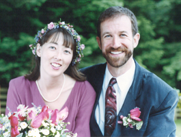 Paul and I at our wedding in 1993.