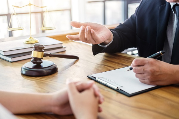 A meeting between an attorney and client