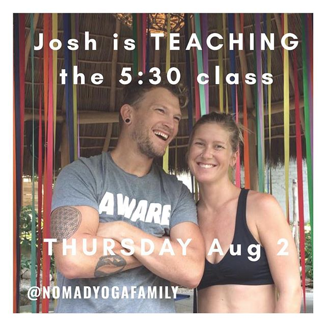 PSA:  @nomadyogafamily will be back on the podium this Thursday (that's tomorrow!) teaching the 5:30PM @bikramreddeer  You have been warned ⚠️ #byrd #yoga #hotyoga
