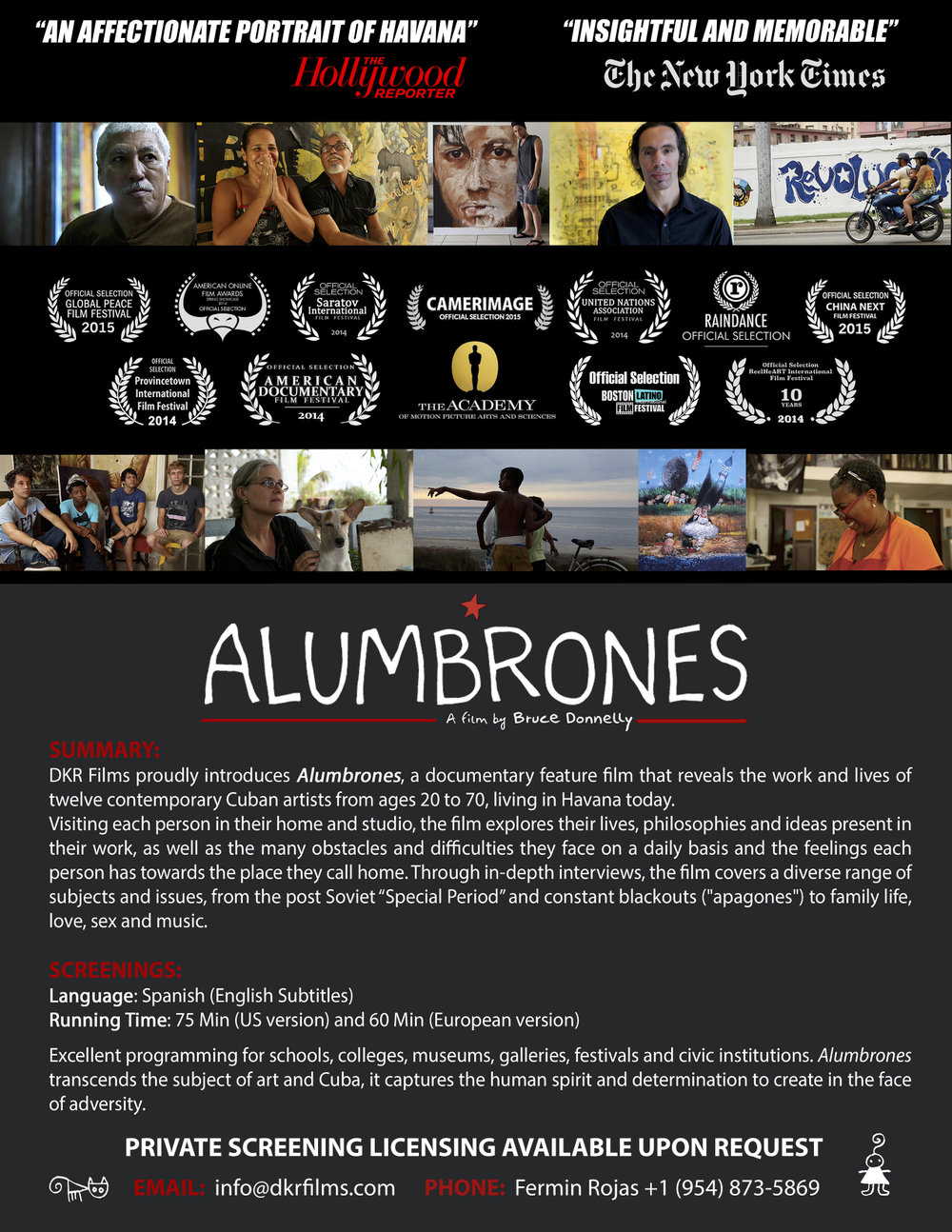 ALUMBRONES - PRIVATE SCREENINGS