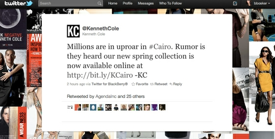 Kenneth-Cole_Cairo-Tweet