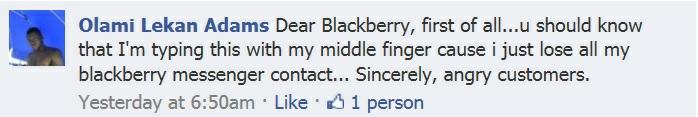 BlackBerry frustration