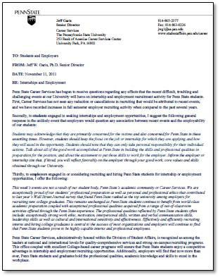Penn State Open Letter