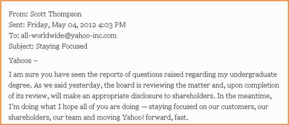 Yahoo Chief Email