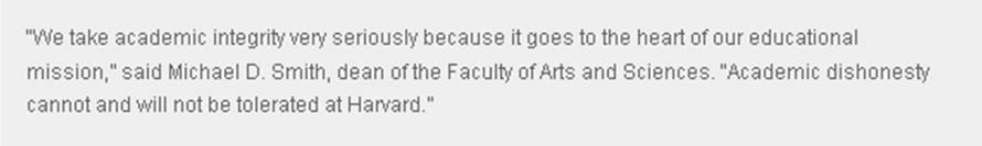 Harvard statement