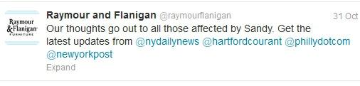 Raymour - Sandy tweet