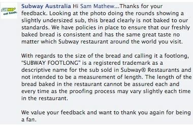 Subway Australia