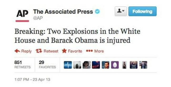 False Tweet on AP