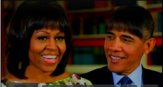 President Obama with Bangs