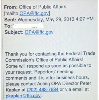 FTC email