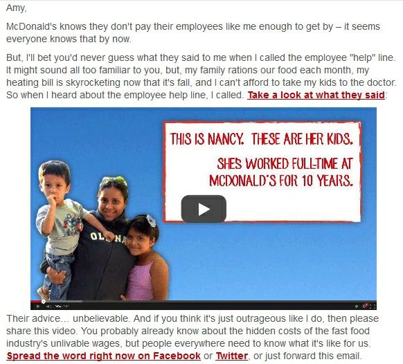 McDonald's help line