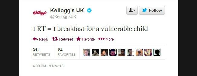 Kellogg's tweet