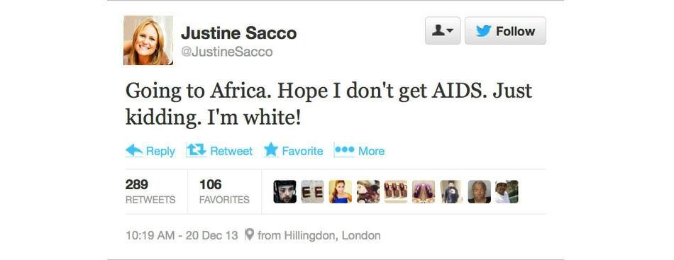 Justine tweet