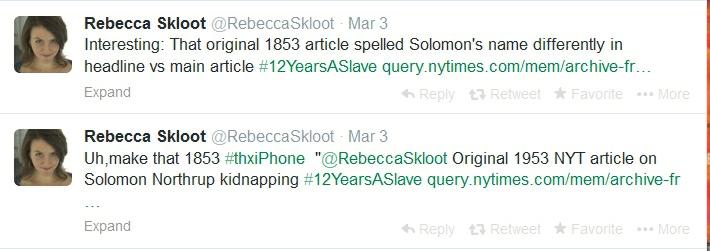 Skloot tweets