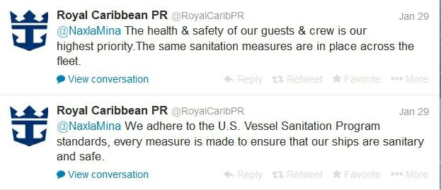 Royal Caribbean tweet