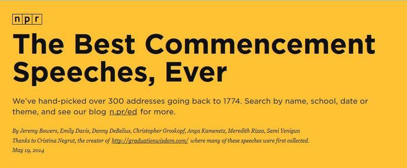 NPR Commencement Speeches