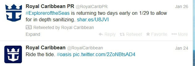 Royal Caribbean tweet2