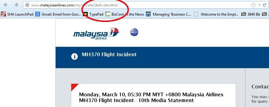 Malaysia airlines dark site2