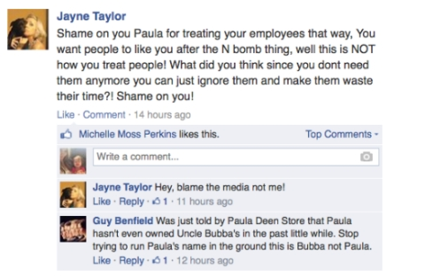 Paula Deen FB post 2