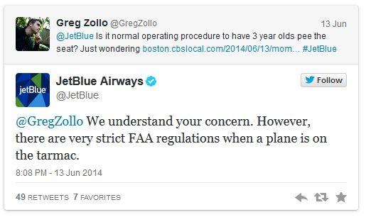 JetBlue tweet