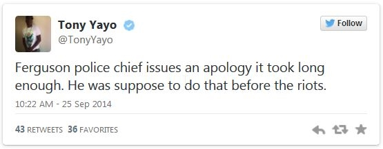 Ferguson police chief's apology 'too little, too late' _ Articles _ Home