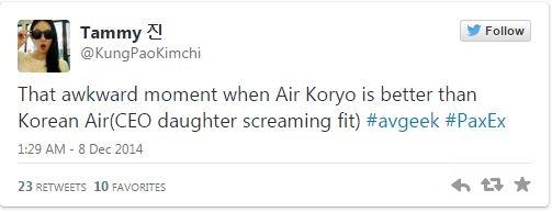 Korean Air tweet
