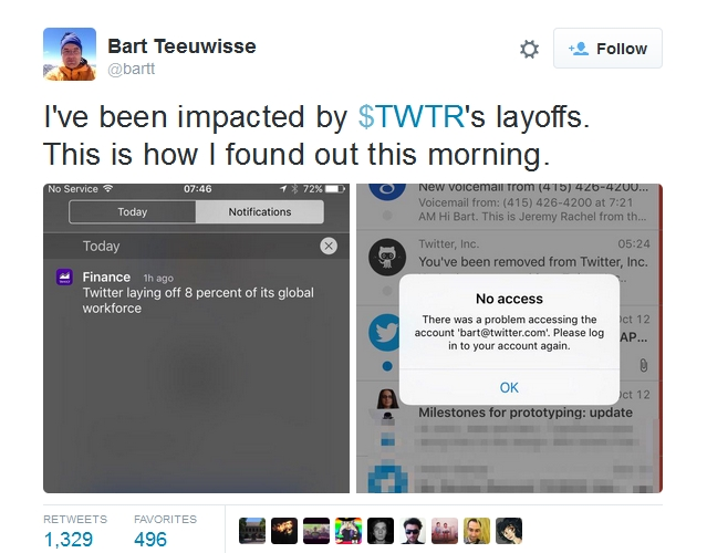 Twitter layoffs
