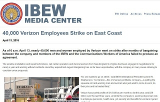 CWA press release