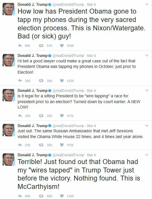 Trump Wiretapping Tweets