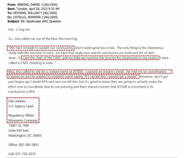 EPA Monsanto email