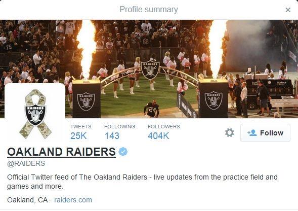 Raiders Twitter