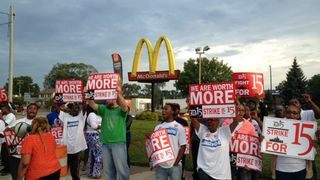 Fast-food-worker-protest
