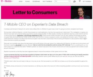 T-Mobile on Data Breach