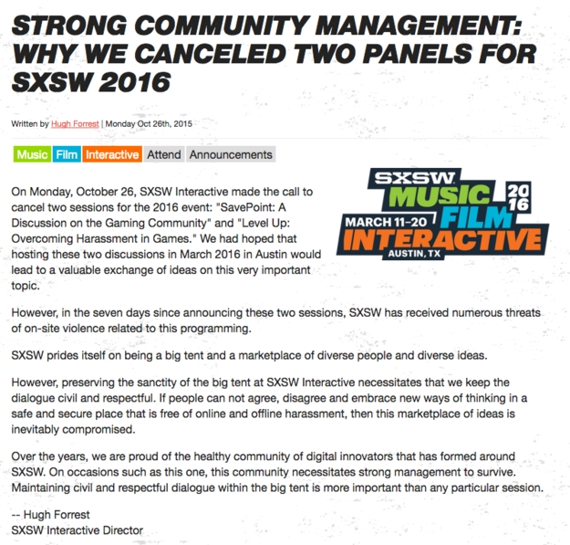 SXSW cancellation