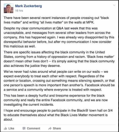 FB All Lives Matter