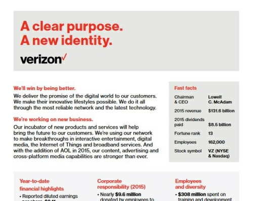 Verizon Fact Sheet