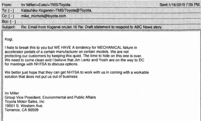 Toyota emails