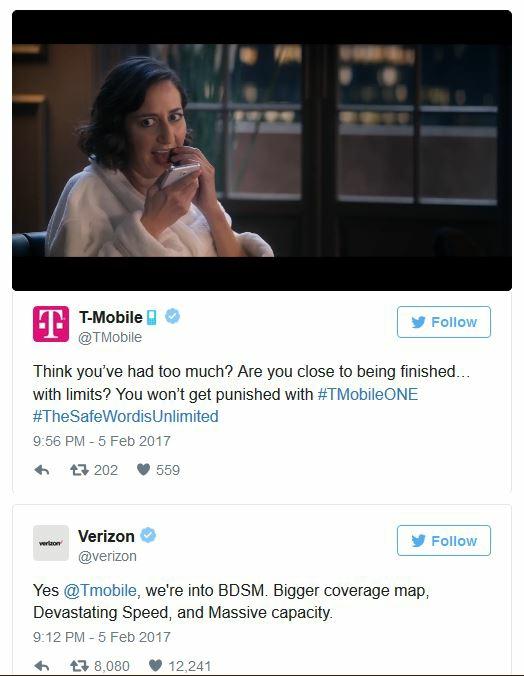 Verizon and T-Mobile