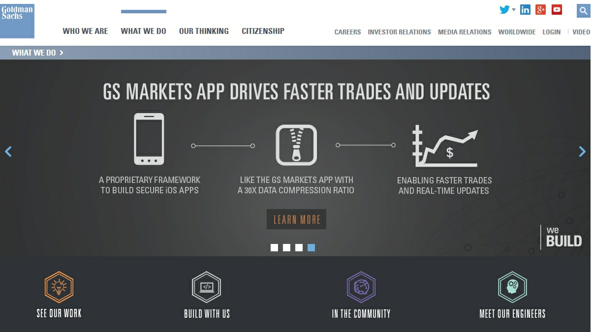 Goldman website