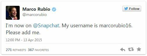 Rubio Snapchat
