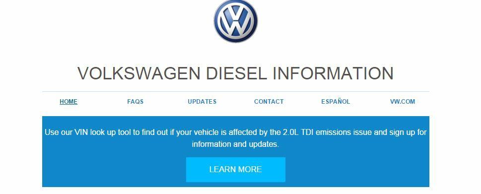 VW site